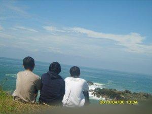Foto 1. dari kiri ke kanan : Evan (saya), Nurokhman, Ipung